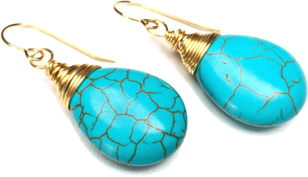 Turquoise Earrings, $45,