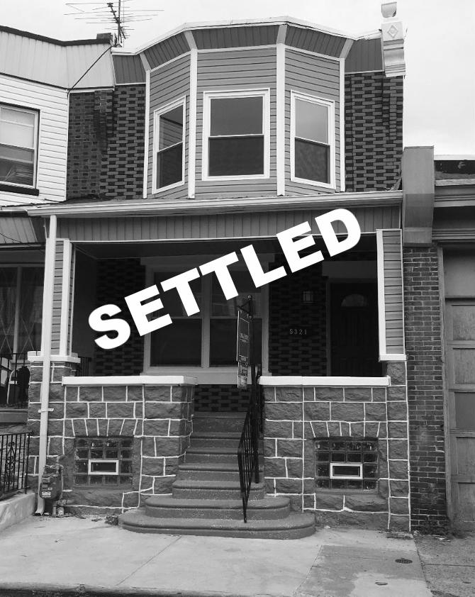 SETTLED | 5321 Chancellor Street Philadelphia, PA 19139 -