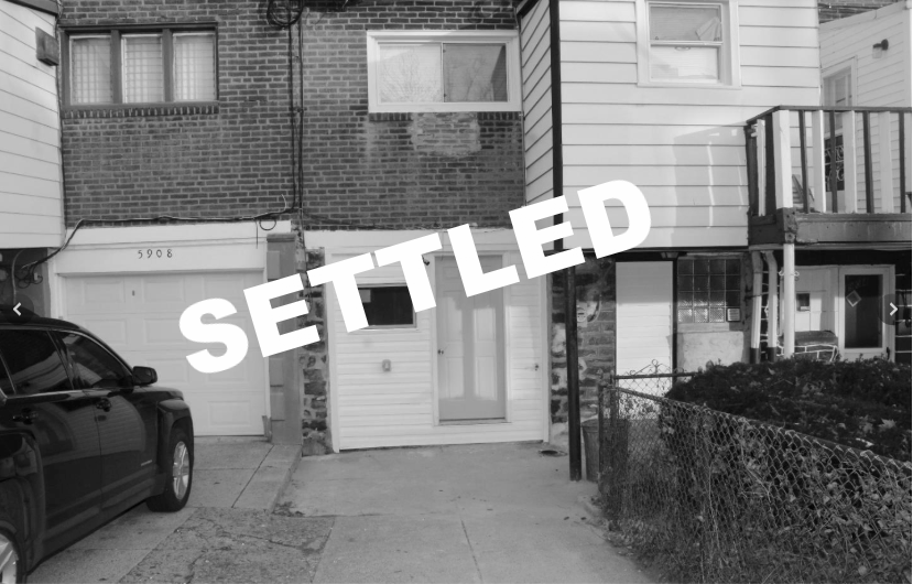 SETTLED | 5906 W Oxford St. Philadelphia, PA 19151 -