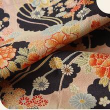 mercato ny Hair scarf, Japanese Kimono Fabric, Navy, Pink, floral.jpg