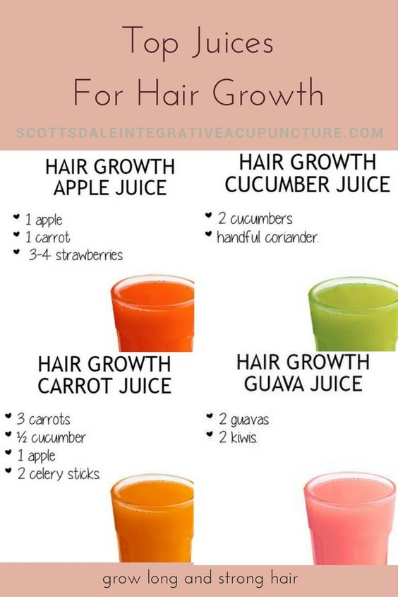 Juices for hair growth