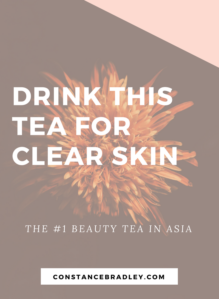 Chrysanthemum tea is a popular summertime drink in Asia because it is refreshing, cooling, and naturally caffeine free. Chrysanthemum is especially good for the skin; it helps to reduce acne, arrest headaches, and can even help with tooth or jaw pain! #naturalbeauty #koreanbeauty #acneremedies #clearskin