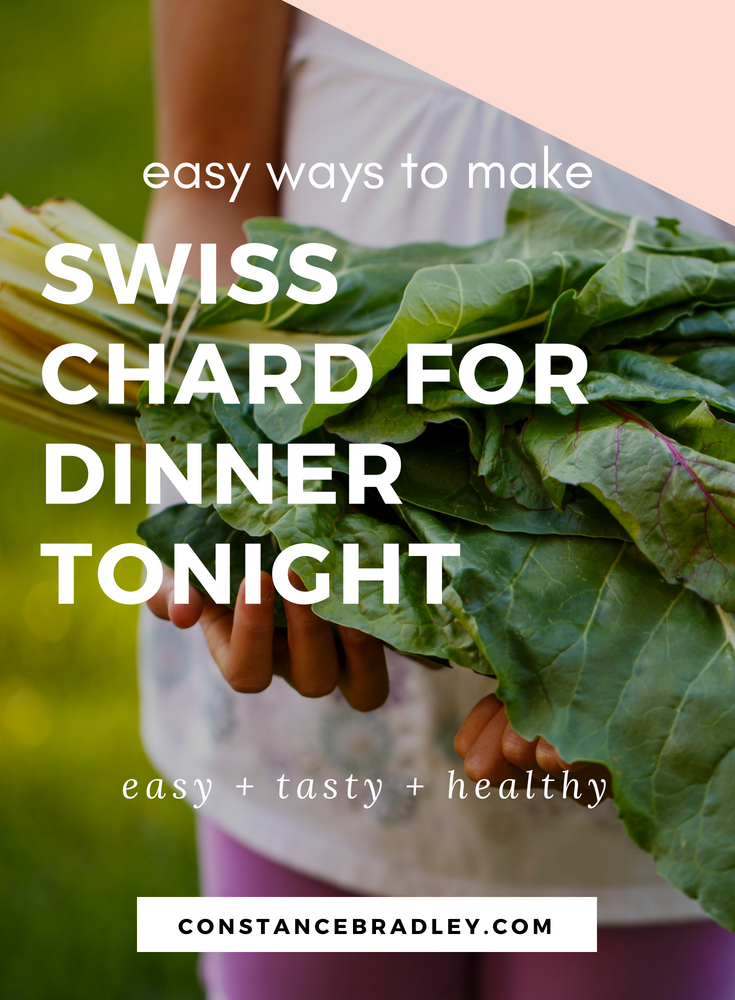 Swiss chard is easy and delicious. Learn easy swiss chard recipes so you can have more vegetables in your diet #swisschard #vegetarianrecipes