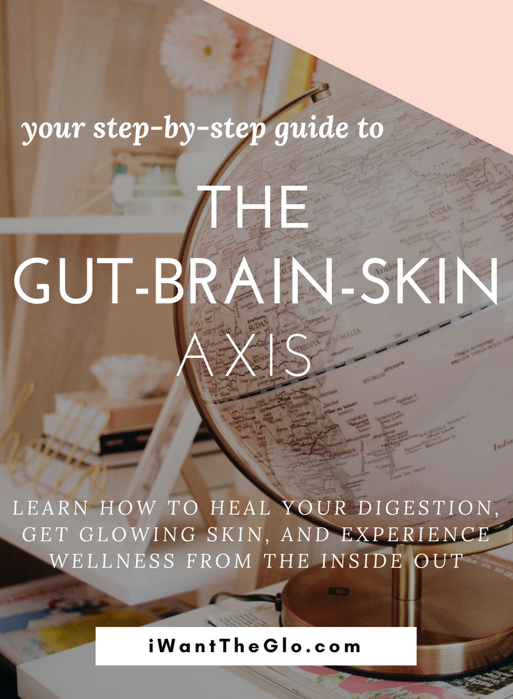 "Skin problems and gut issues have a long history of connection known as the  ""gut-brain-skin axis""  Learn how the important connection between skin and gut health can show up with acne, rosacea, or psoriasis. This is your ultimate guide to getting your skin, digestion, and emotional wellness in balance by following a few simple steps."