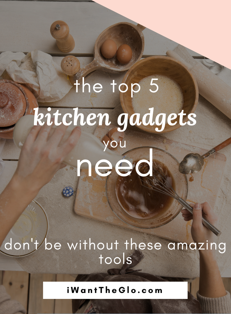 I don't have a large space for cooking and I have even less space for storage. But, I love to cook and I want to be able to cook almost every day. So a small kitchen can't stop me from indulging my cooking habit, it just means my space and tools must be very intentional and functional. All of my gadgets and appliances must be multi-purposed;there is something very freeing about having a minimalist kitchen. Through this process, I've determined what kitchen appliances are my must-haves - here are my top 5 kitchen gadgets I can't do without: