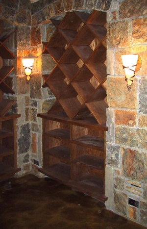 CUSTOM DESIGNED WINE ROOM