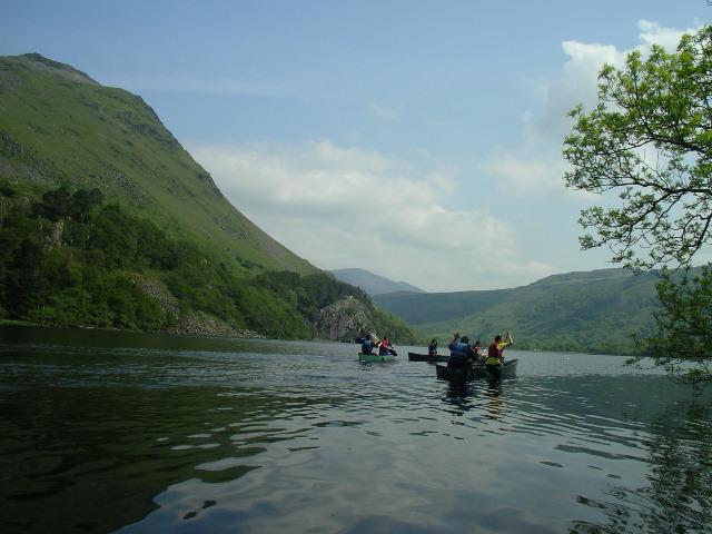 Canoeing on Llyn Gwynant, North Wales