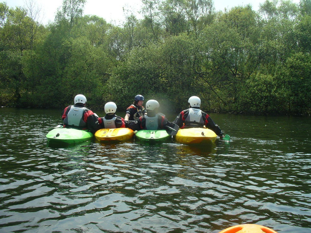 Kayaking at Llyn Padarn, North Wales