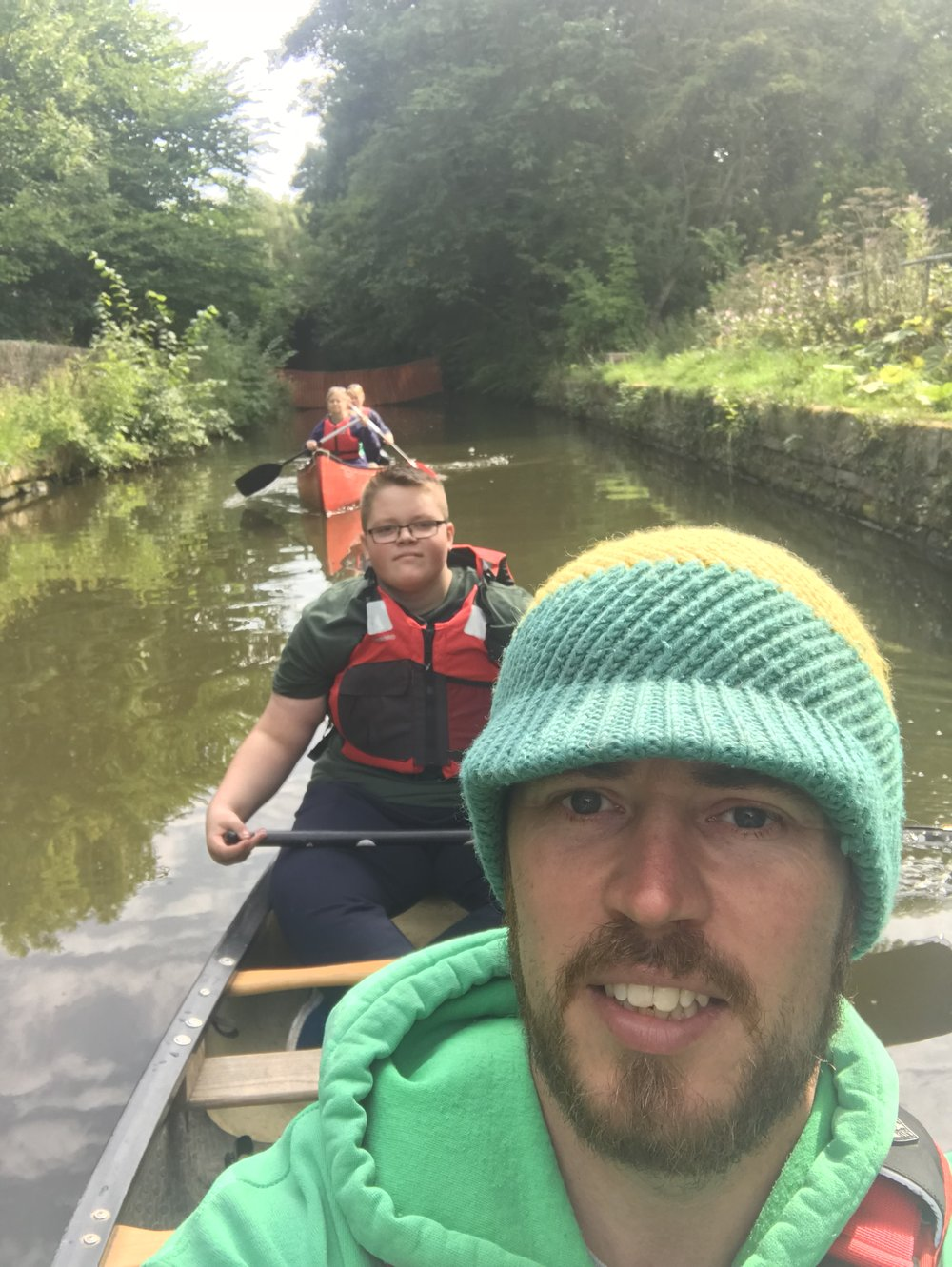 Canoeing on the Peak Forrest Canal, Peak District