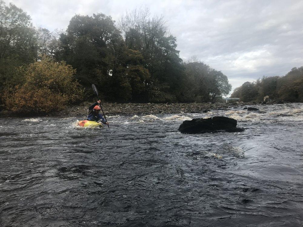 Kayaking, River Tees, Barnard Castle