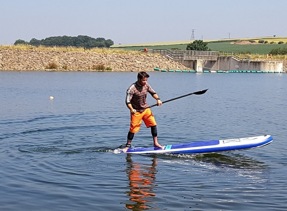 Paddleboarding at Ulley Reservoir