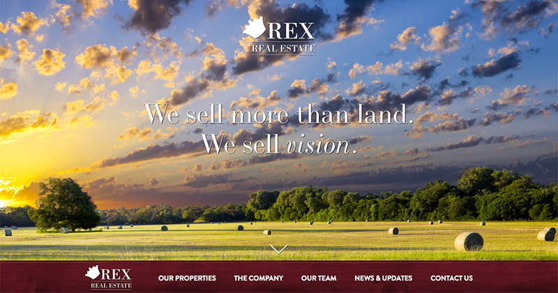REX REAL ESTATE  Custom WordPress Website