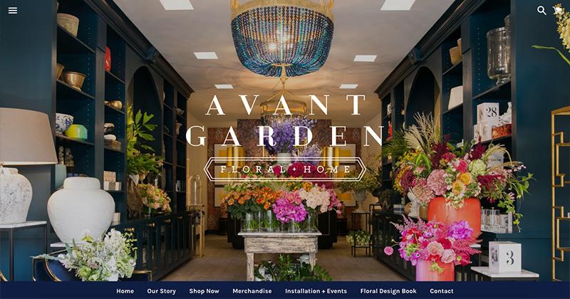 AVANT GARDEN  Shopify Online Store