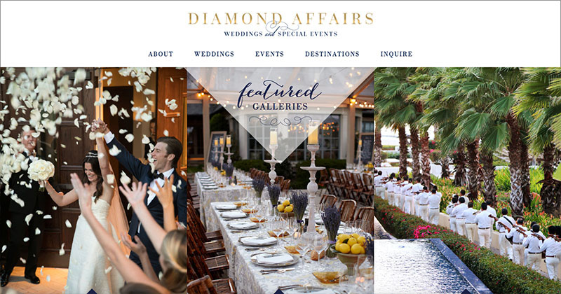 DIAMOND AFFAIRS  Custom WordPress Website