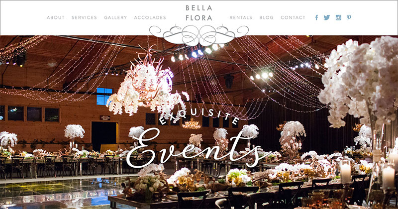 BELLA FLORA OF DALLAS  Custom WordPress Website