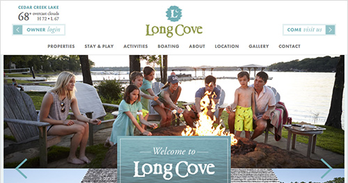 LONG COVE  Custom WordPress Website