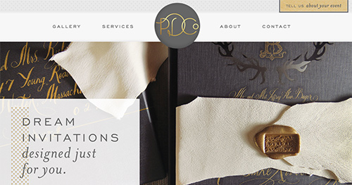 PARADISE DESIGN CO  Custom WordPress Website