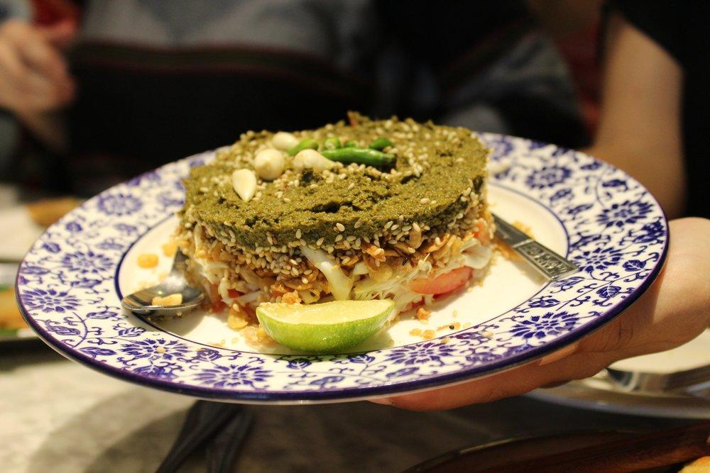 Lahpet Thoke - Burmese Tea Leaf Salad