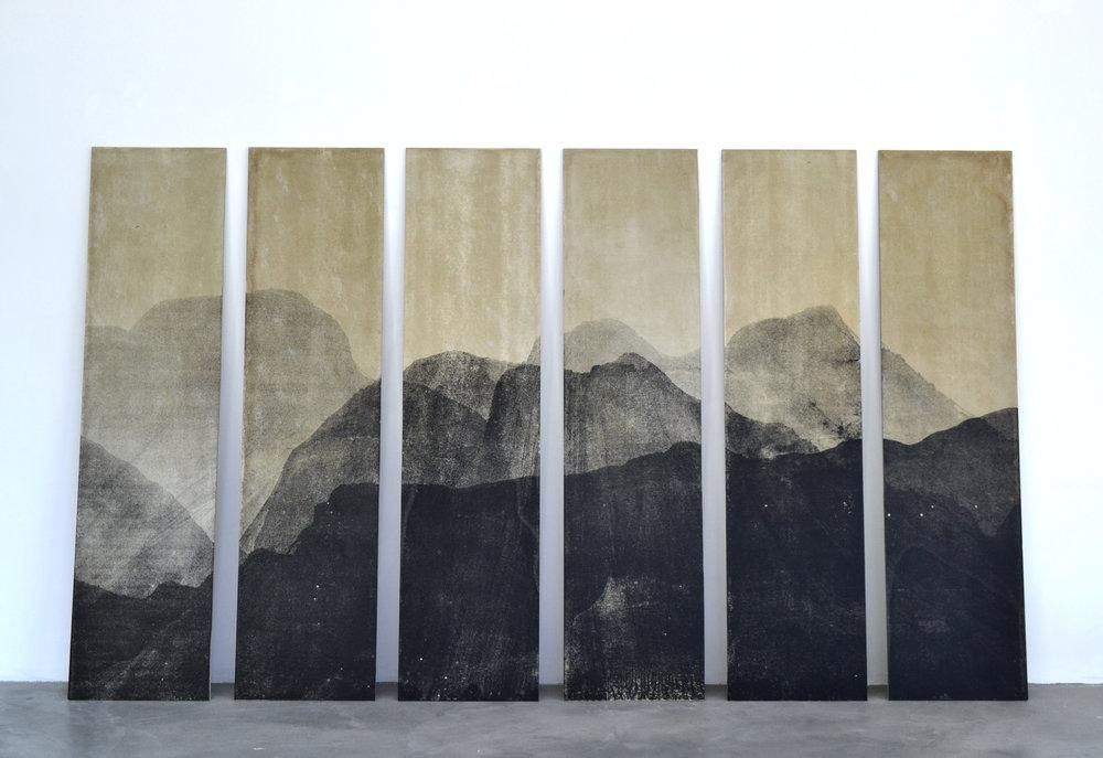 Paisaje  Serigrafía sobre cemento 2.40m x 4.10m 2016