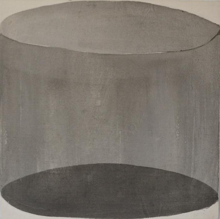 Forma y proyección II  Tinta sobre tela 40cm x 40cm 2016