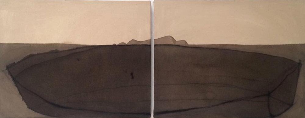 Isla  Tinta sobre lona 55cm x 1.40m 2016