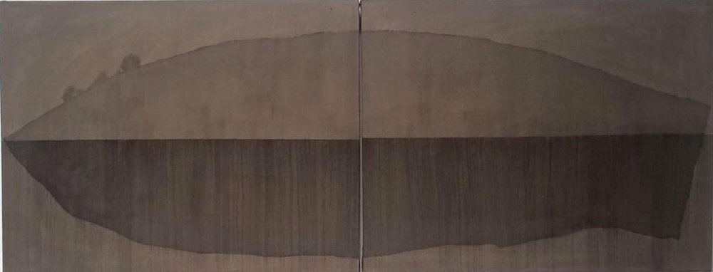 Naufragio  Tinta sobre lona 55cm x 1.40m 2016
