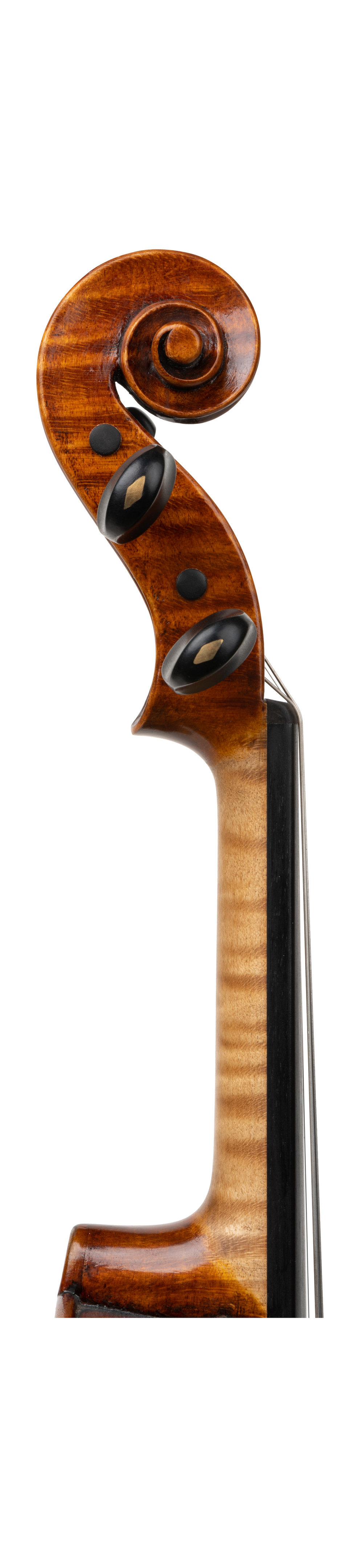German violin labeled Jacob Stainer scroll.jpg