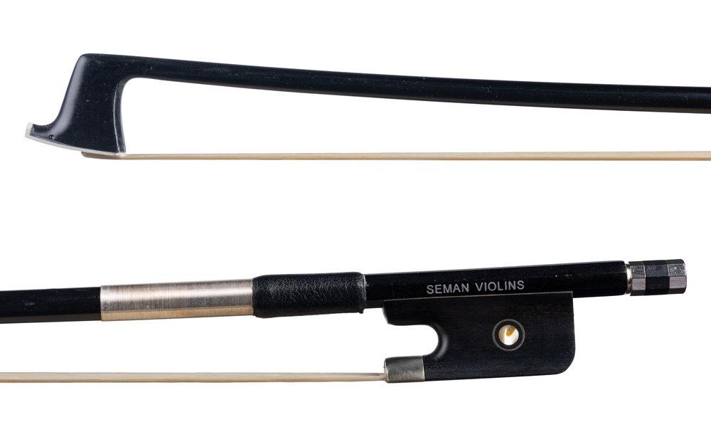 Seman Violins - Nickel-mounted ebony frog