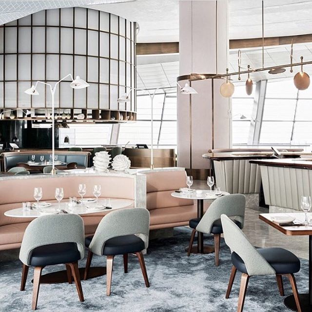 In A•W•E of this gorgeous space designed by @alexander_andco for Chef Sean Connolly's Dubai Opera restaurant.