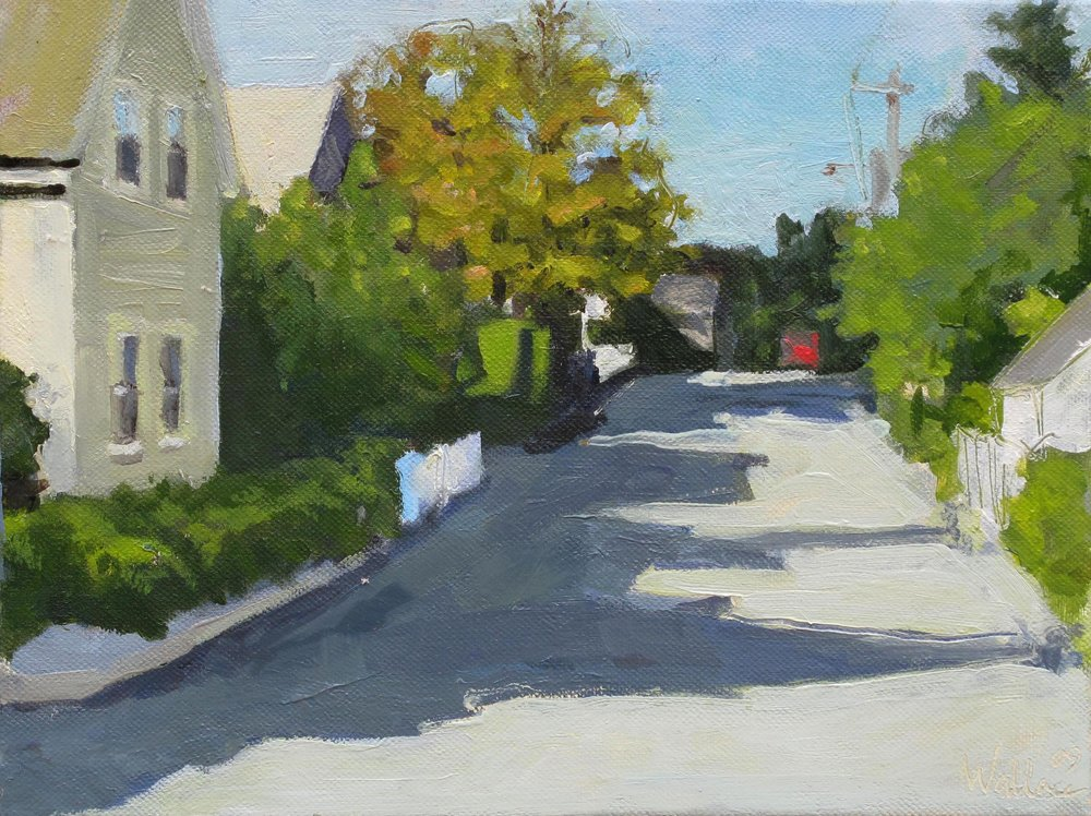 PTown Street, Oil on Canvas, 8x10""