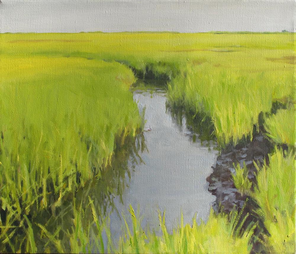 """Marsh I, Oil on Linen, 24x30"""""""