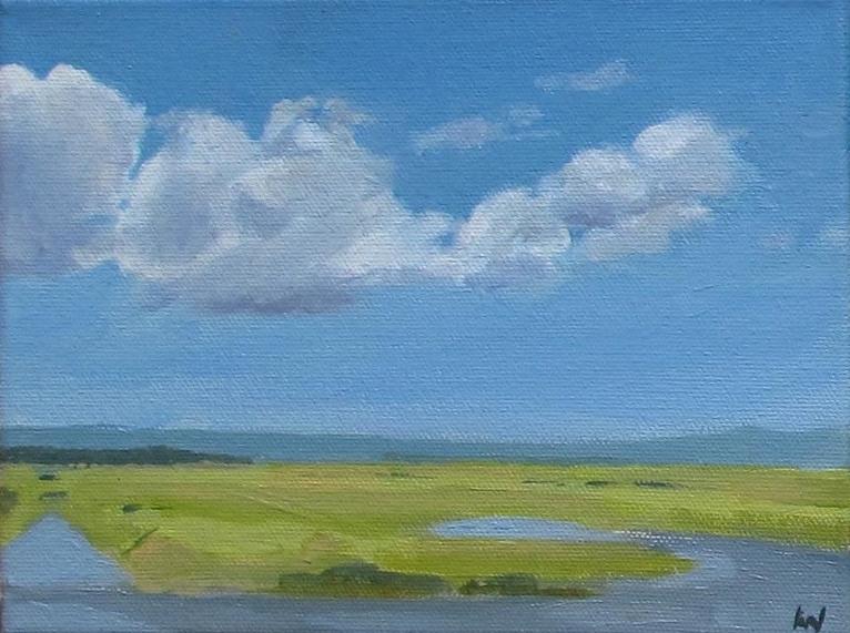"Wolfsville, Oil on Canvas, 6x8"""