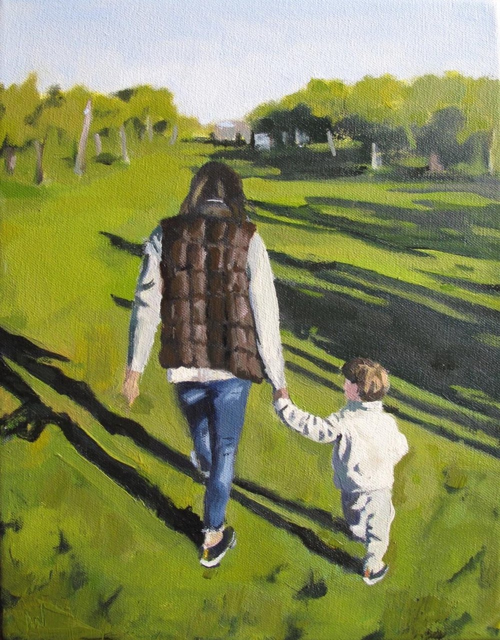 Lynn and Noah, Oil on Linen, 10x16""