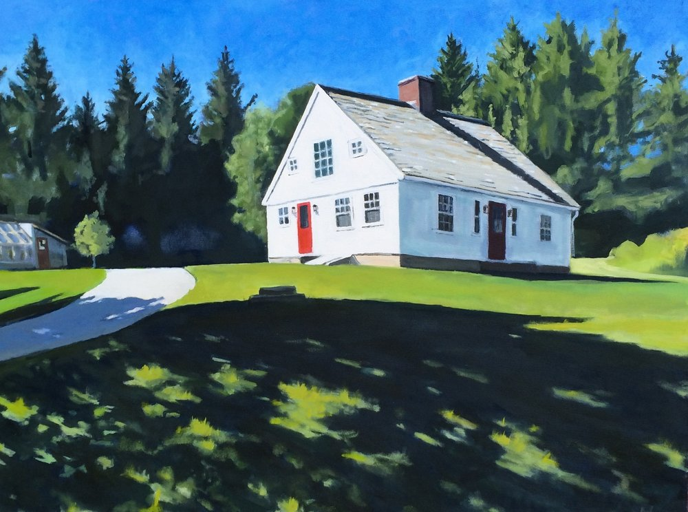 A White House, Oil on Canvas, 36x48""