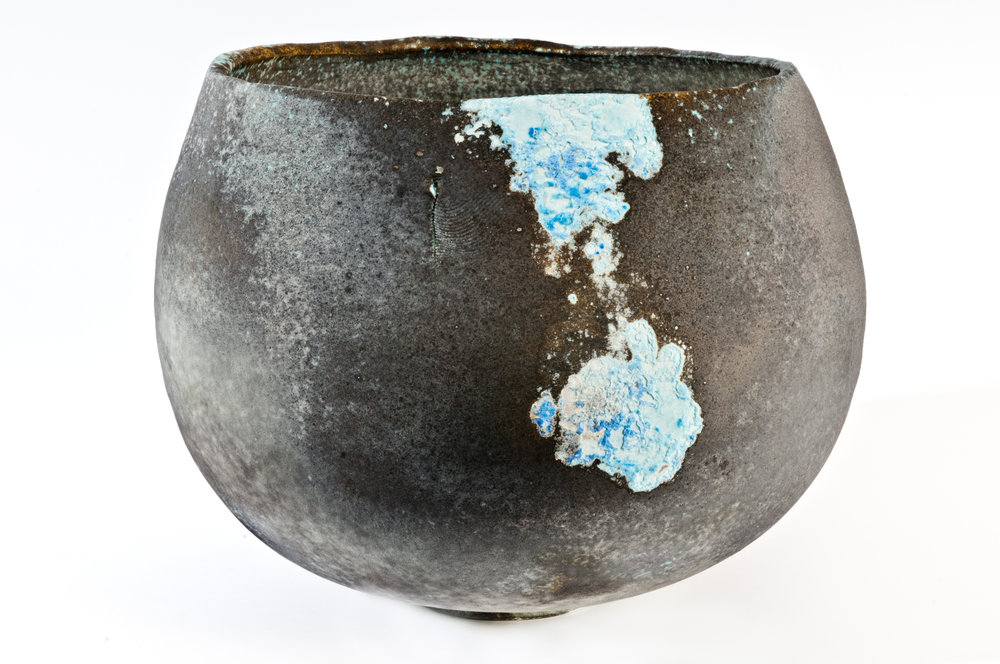 Jack Doherty,Black and Blue Guardian Vessel, from the Irish Contemporary Ceramics Collection.