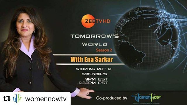 Exploration is the engine that drives innovation and innovation leads to progress. Co-produced by @womennowtv, Tomorrow's World is back with Season 2 with more promising tech innovations that will disrupt the world for a better and an easier way of living.  Watch Ena Sarkar visit the top startups in Silicon Valley only on Zee TV HD, starting May 12 at 9pm EST and 9.30pm PST. — #tomorrowsworld #zeetv #womennowtv #startups #disrupt #siliconvalley #worldchangers #entrepreneurs