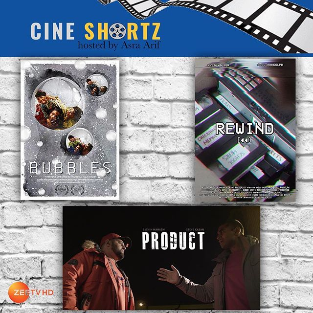 "This Sunday's episode of Cine Shortz features the three short sci-fi films: ""Bubbles"" from director Harshad Nalawade, ""Rewind"" from director Rodrigo Frederico, and ""Product"" from director Ashish Varma. — Watch Sunday, May 13th on @zeeamericas and @zeetvcaribbean. — US 7pm ET / 4pm PT  CAN 6pm ET / 3pm PT  CAR 6:30 AST —  #CineShortz #scifi #sciencefiction #IndieFilm #ShortFilms"