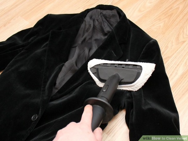 Steaming is a simple and effective way to clean velvet. Image via WikiHow