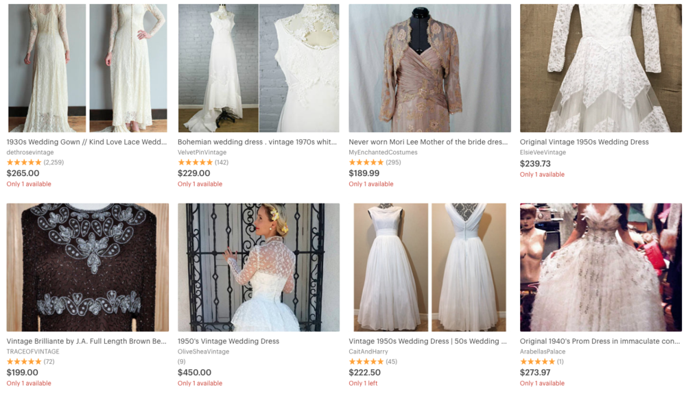 5 Places To Buy the Perfect Vintage Wedding Dress