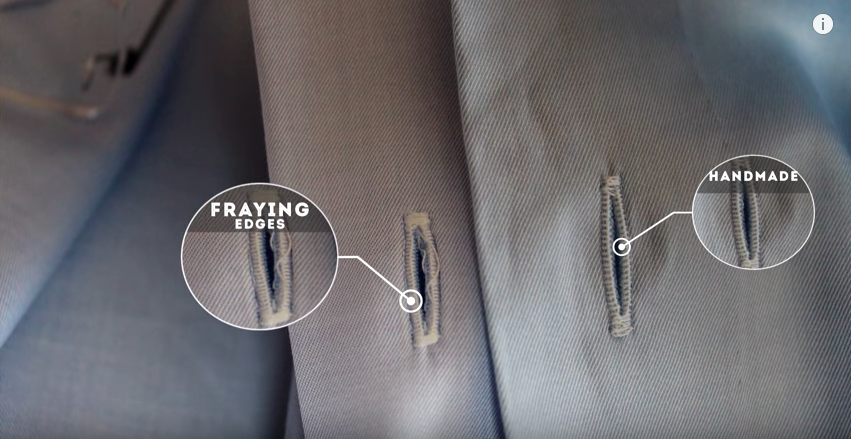 Fraying edges is a definite sign of cheap manufacturing. GENTLEMAN'S GAZETTE / YOUTUBE