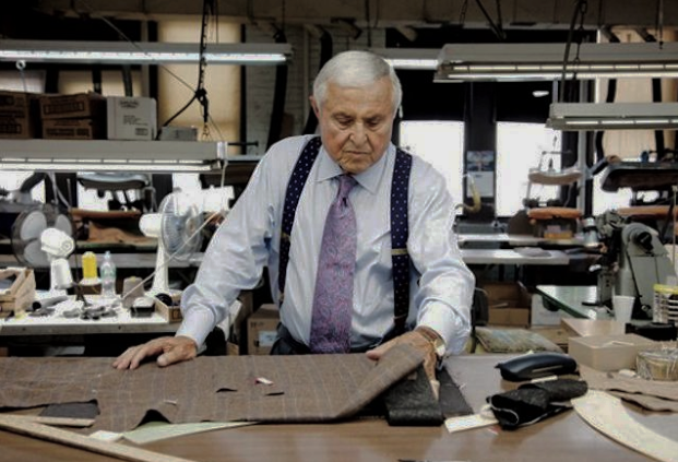"""Martin Greenfield - Often described as """"the best men's tailor in the United States,"""" Martin Greenfield is an 88-year-old Holocaust survivor with a mastery of the suit craft. Spending several years making suits in Auschwitz, Greenfield was eventually liberated and came to the U.S. Working his way up from a floor boy to Vice President of his garment factory, Greenfield has since dressed the likes of Leonardo Di Caprio, President Trump, and Jimmy Fallon.Greenfield Clothiers makes about 60 suits a day, all completely hand sewn. The company creates made-to-measure suits, tuxedos, sport jackets, and overcoats. With so much history and craftsmanship, Greenfield Clothiers is arguable one of the most prestigious suit makers in the world."""
