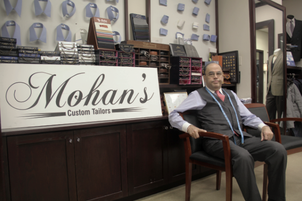 "Mohan's - Offering ""premiere tailoring services at a reasonable price,"" Mohan's boasts over four decades of experience in the garment industry. Owner Mohan Ramchanandi started his business with the original vision of outdoing what he calls ""overpriced designer clothing."" Specializing in bespoke clothing, the boutique tailor offers custom-made suits built from fine fabrics and sewing patterns at a very reasonable price."