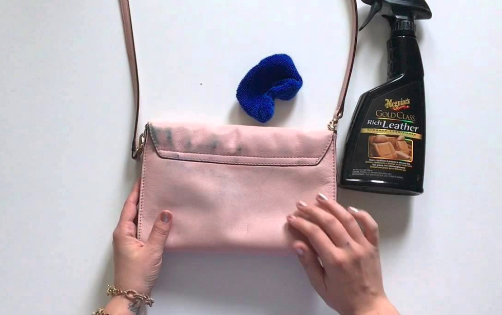 Be sure to use microfiber cloths to clean your leather handbag or purse.
