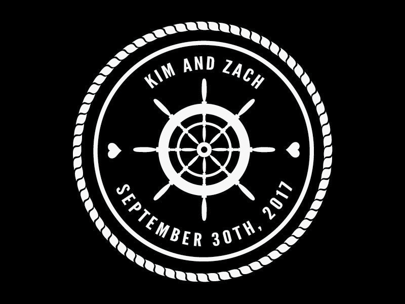 The Wedding Monogram we created especially for Kim and Zach