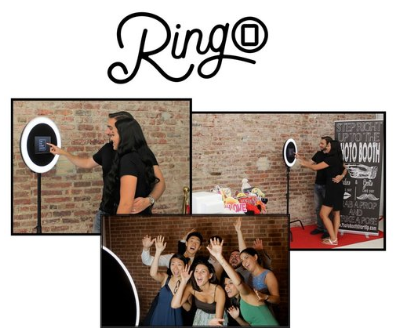 RingO - The RingO is our newest open-air photobooth option! It can take pictures, GIFs, and Boomerangs that you can send to your friends via text message! Similar to our other photobooth options, the RingO also prints photo strips for you and your guests.