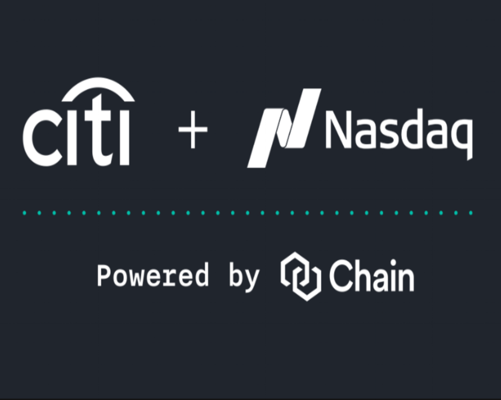 CHAIN - WALL STREET JOURNAL - cITI AND nASDaq launch on chain technology