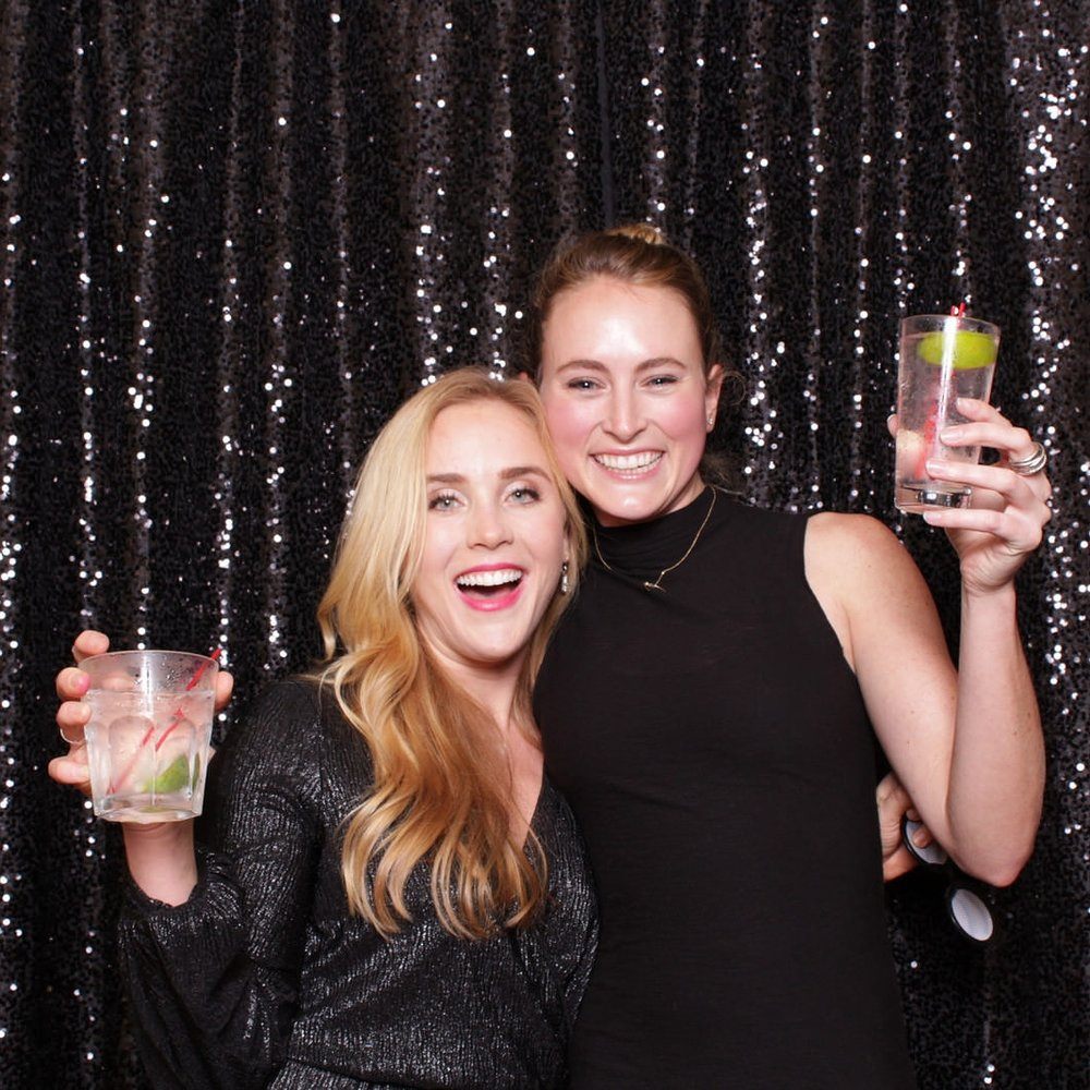 chroma Photo Booth black small sequin