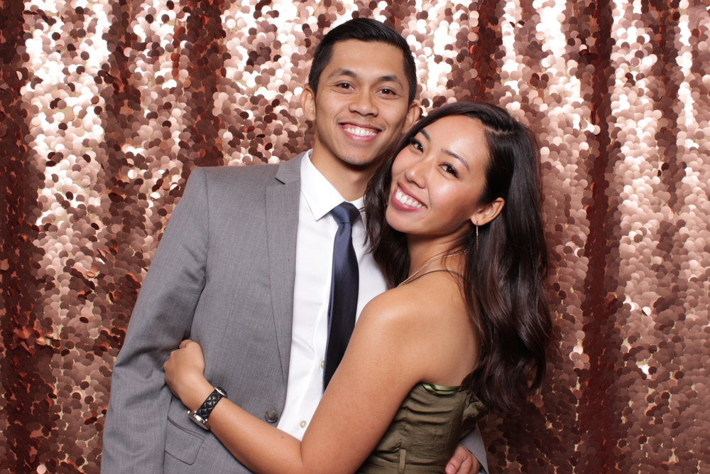 chroma photobooth rose gold large sequin backdrop