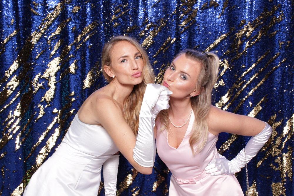 Chroma Photobooth Blue Sequins