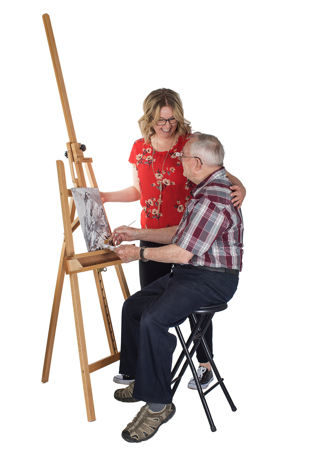 ART STUDIOS - Research suggests that even when the brain is deteriorating and causing impairments in thinking, memory, and judgement; individuals can visually communicate through the creative center of the brain even when they are no longer verbal.  Teaching artists facilitate hands on learning experiences in painting, mixed media, sculpting, and woodworking.